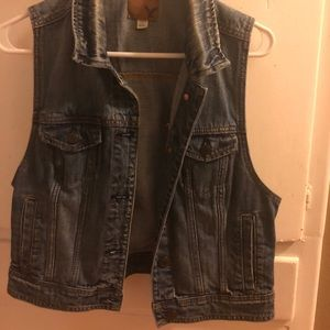 American Eagle Denim Vest size L